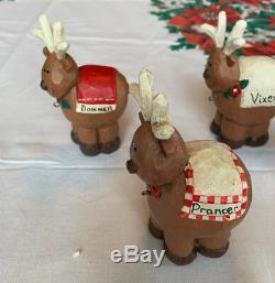 Midwest of Cannon Falls - Eddie Walker - Santa in Sleigh with 8 Reindeer Set