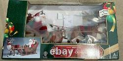 NEW Rare Holiday Creations Animated Reindeer And Santa On Sleigh In Box Working