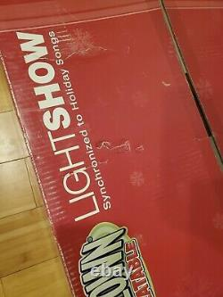 New Gemmy Inflatable Lightshow 13ft Santa in Sleigh with Reindeer Elves Snowman