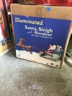 New General Foam Santa Sleigh and Reindeer Blow Mold