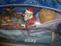 New In Box Memory Lane Santas Sleigh & Reindeer Team Rare 2003 Playing Mantis