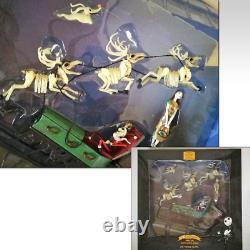 Nightmare Before Christmas 10th Anniversary Figure Santa Jack & Sleigh Reindeer