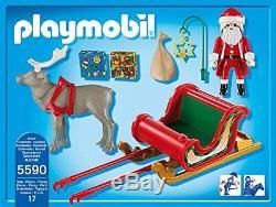 Playmobil Christmas Sleigh Of Santa with Reindeer, Playset 17 Pieces Toys
