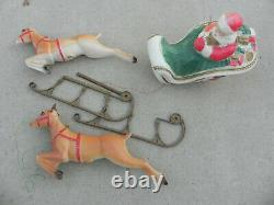 Poloron Santa Sleigh And Reindeer Blow Molds