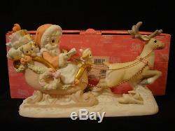 Precious Moments-HUGE Santa/Sleigh/Reindeer-Limited Edition-Hard To Find