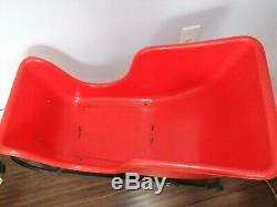 RARE 1960s Vintage Beco Christmas Plastic Blow Mold Set- SANTA SLEIGH 2 REINDEER