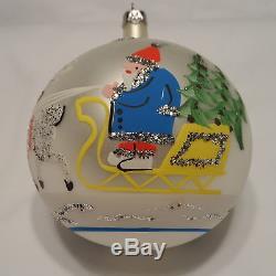 Radko 1989 SANTA SLEIGH Vintage RARE Santa in a Sleigh withReindeer NEW withTag