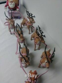 Rare Memory Lane Rudolph The Rednosed Reindeer Santa's Sleigh And Reindeer Team