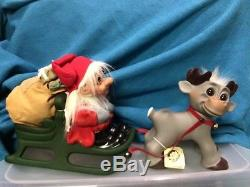Rare Thomas Dam 2009 Anniversary Edition Santa in Sleigh with Reindeer