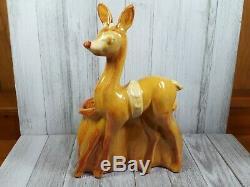 Royal Haeger Rudolph The Red Nose Reindeer Xmas Santa Sleigh Toy Bag Planter
