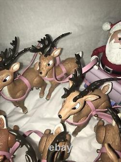 Rudolph Island of Misfit Toys Santa's Sleigh and Reindeer Team 2002 Memory Lane