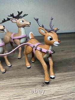 Rudolph Island of Misfit Toys Santas Sleigh & Reindeer Team 2002 Memory Lane 32