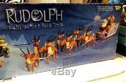 Rudolph Santa's Sleigh & Reindeer Team Island Misfit Toys Memory Lane New Sealed