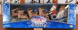 Rudolph The Red-Nosed Reindeer Santas Sleigh & Reindeer Team BRAND NEW SEALED