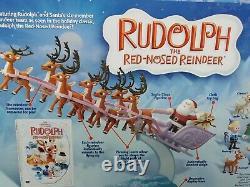 Rudolph The Red Nosed Reindeer Santas Sleigh & Reindeer Team new in box
