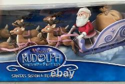 Rudolph and Island of Misfit Toys Santa's Sleigh & Reindeer Team