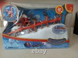 Rudolph the Red Nosed Reindeer Santa's Sleigh and Reindeer Team Forever Fun RARE