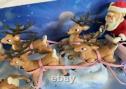 Rudolph the Red Nosed Reindeer Santa's Sleigh and Reindeer Team Memory Lane 2002