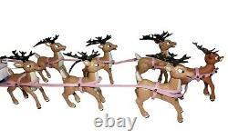 Rudolph the Red Nosed Reindeer Santa's Sleigh and Reindeer Team Memory Lane RARE