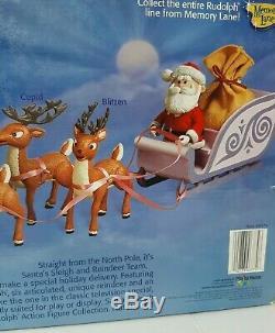 Rudolph the red nosed reindeer Santa, sleigh and reindeer team by Memory Lane