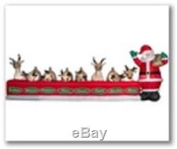 Santa And Sleigh With Eight Reindeer Large Gemmy Inflatable Christmas Decor