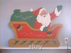 SANTA SLEIGH & REINDEER 6pc. Christmas Yard Art