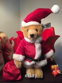 Steiff Friends Of Christmas Santa Bear Reindeer Sleigh Set Steiff Lladro Bear