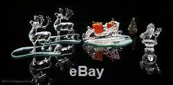 SWAROVSKI Santa Claus 2 Reindeer Sleigh 214821 + 205165 + 211362