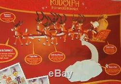 Santa Musical Sleigh Rudolph the Red Nosed Reindeer Display Stand Play Set 2009