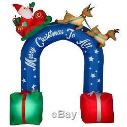 Santa Reindeer Sleigh Archway Christmas Airblown Inflatable