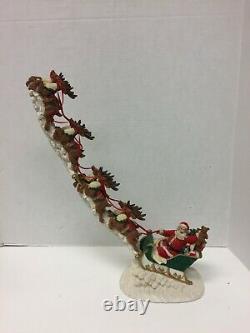 Santa Sled 8 Reindeer Christmas 16L Jaimy Midwest Cannon Falls 1993 Vintage