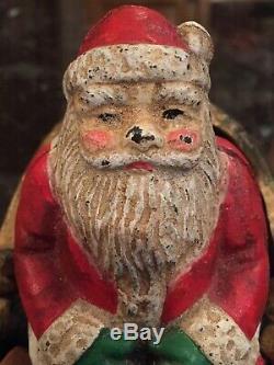 Santa Sleigh & Reindeer Cast Iron Toy