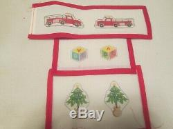 Santa, Sleigh, Toys, Reindeer-by Gail-handpainted Needlepoint Canvass