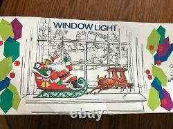 Santa Sleigh and 2 Reindeer Tabletop Blow Mold by Empire 24 with Original Box