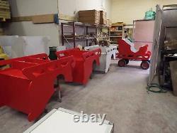Santa's Sleigh PLYWOOD Large sit in Christmas Wooden Take Apart 1500 mm long