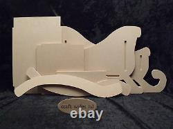 Santa's Sleigh & two Reindeer wooden MDF Snowman Family Christmas 620mm long