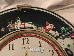 Seiko Melodies In Motion Santa, Reindeer, Sleigh Christmas Chiming Musical Clock