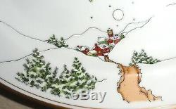 St Nicholas Fitz and Floyd Santa Claus Sleigh Reindeer Platter Lg 10 x 14