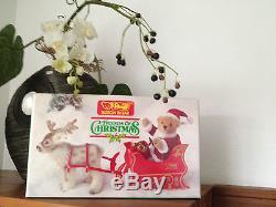 Steiff REPLIKA Schlitten mit Rentier und Nikolaus Santa Claus, Sleigh Reindeer@@