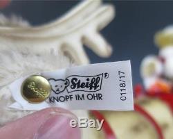 Steiff SANTA SLEIGH & REINDEER Friends Of Christmas Teddy Bear 0118,00 Holidays
