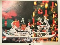 Swarovksi Crystal Reindeer Santa Sleigh Box Coa 205165 214821