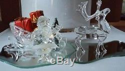 Swarovski Santa, Reindeer, and Sleigh
