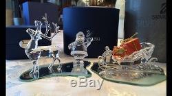 Swarovski Santa sleigh and reindeer set
