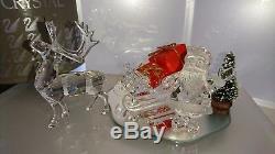 Swarovski Schlitten + Rentier+ Weihnachts Mann Sleigh Reindeer Santa Ap 2005 Ovp