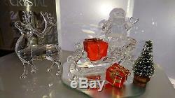 Swarovski Schlitten+rentier+weihnachts Mann Sleigh Reindeer Santa Ap 2005 Ovp