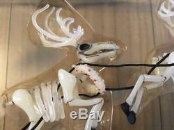Tjhe Nightmare Before Christmas Jack reindeer figures Disney SANTA JACK & SLEIGH