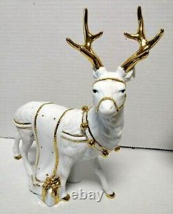 Traditions Porcelain Santa With Sleigh And Reindeer 270369