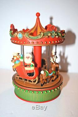 VERY RARE 1979 Vintage 1st Issue Hallmark Carousel Santa Sleigh Reindeer