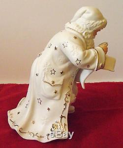 Vintage Member's Mark Porcelain Santa Sleigh And Reindeer Hard To Find