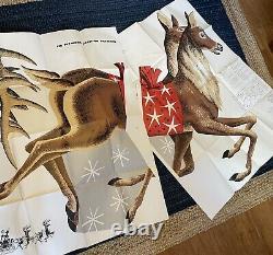 Vintage 1959 plywood patterns Santa Claus, Christmas Sleigh & Reindeer U-bild